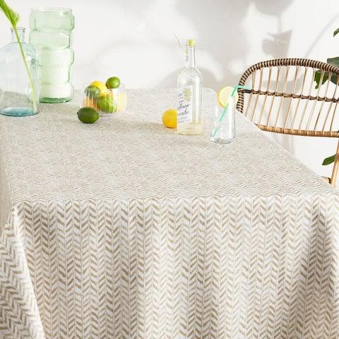 Tommy Bahama Maui Herringbone Fabric Tablecloth