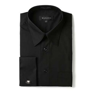 Link to Marquis Men's Regular Fit French Cuff Dress Shirt - Cufflinks Included Similar Items in Shirts