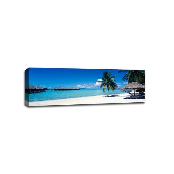 Moana Beach - Bora Bora - Beach Photography - 48x16 Gallery Wrapped Canvas Wall Art