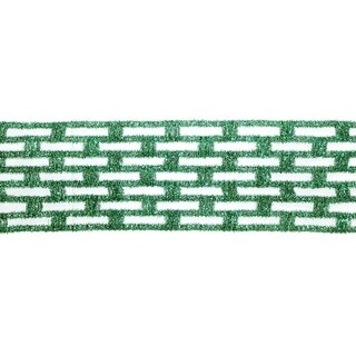 """Pack of 4 Green Metallic Decorative Christmas Holiday Wired Craft Ribbon 4.2"""" x 40 Yards"""