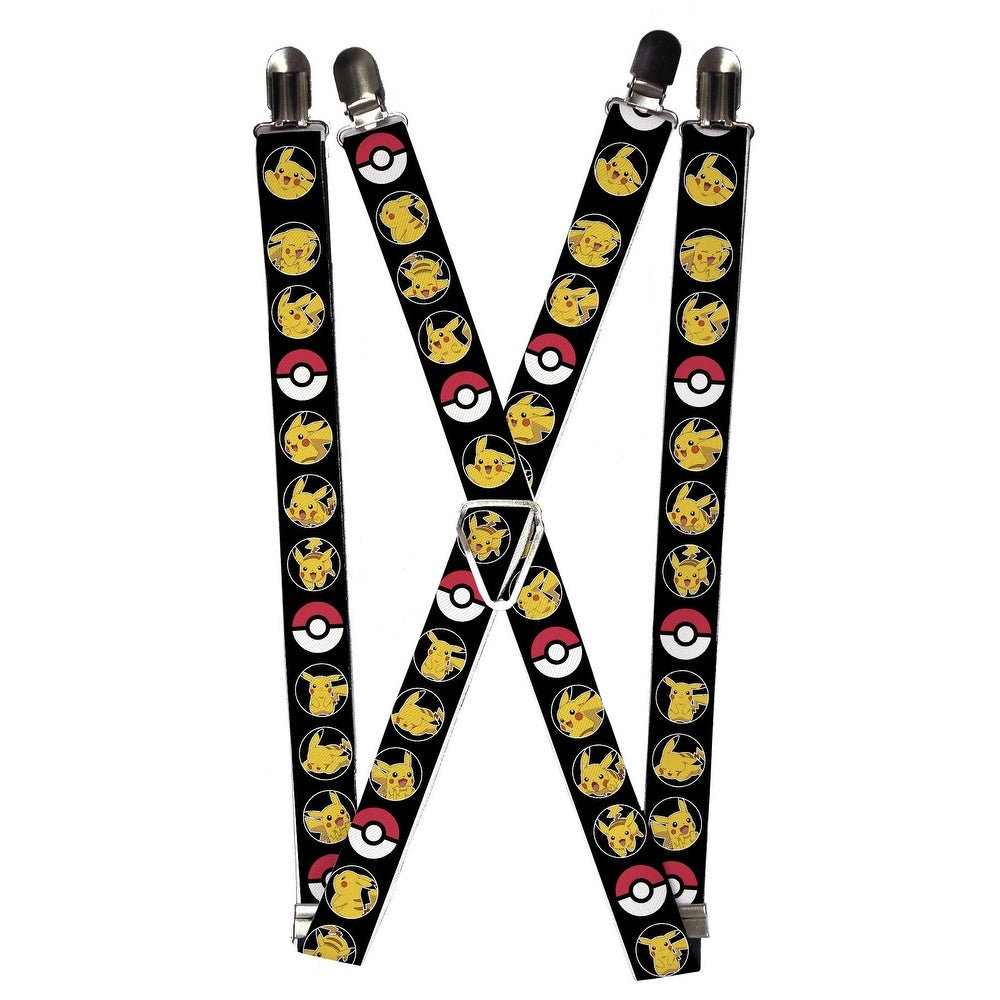 One Size Buckle-Down Mens Suspender-Penguins