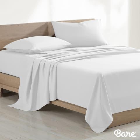 Bare Home 100% Organic Cotton Sheet Set - Crisp Percale Weave - Lightweight & Breathable