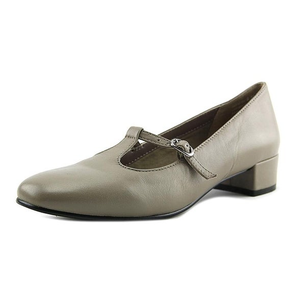 David Tate Emma Women N/S Round Toe Leather Tan Mary Janes