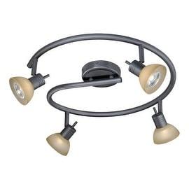 Vaxcel Lighting SP53518 Como 4 Light 50 Watt Each Spiral Halogen Accent Light Fully Adjustable