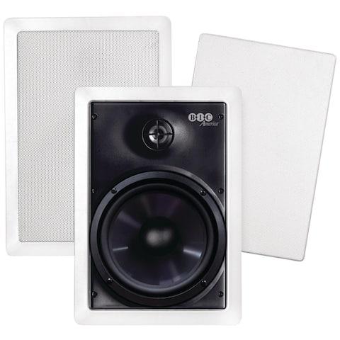 "Bic America 6.5"" Weather-resistant In-wall Speakers"
