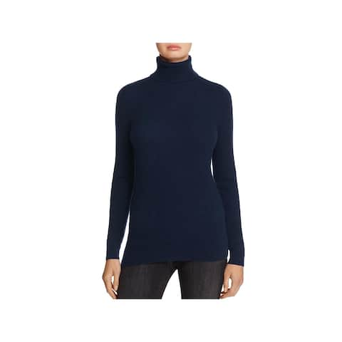 Private Label Womens Turtleneck Sweater Cashmere Ribbed Trim