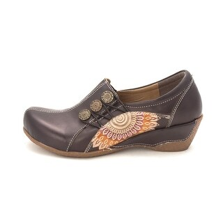 Spring Step Womens Adrienne Leather Closed Toe Clogs - 6.5