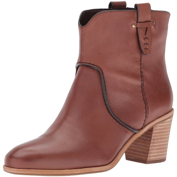 G.H. Bass & Co. Womens Sophia Leather Closed Toe Ankle Fashion Boots