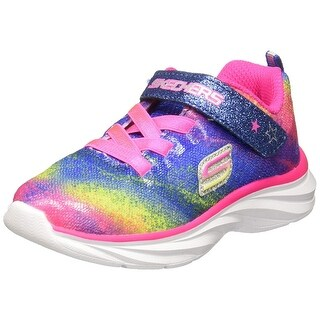 Skechers Infant/Toddler Girls' Pepsters Bling Brite Sneaker,Neon/Pink/Multi,Us 8