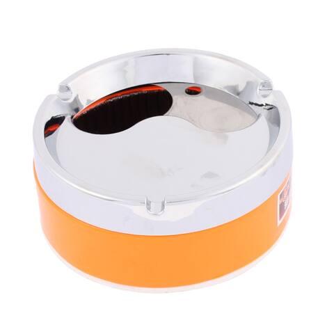 Unique Bargains Home Office Rotary Lid Design Cigarette Ashtray Ash Holder Container Orange