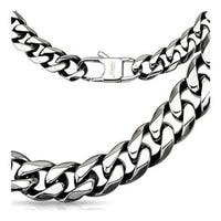 Stainless Steel Chain Link Necklace (10 mm) - 24 in