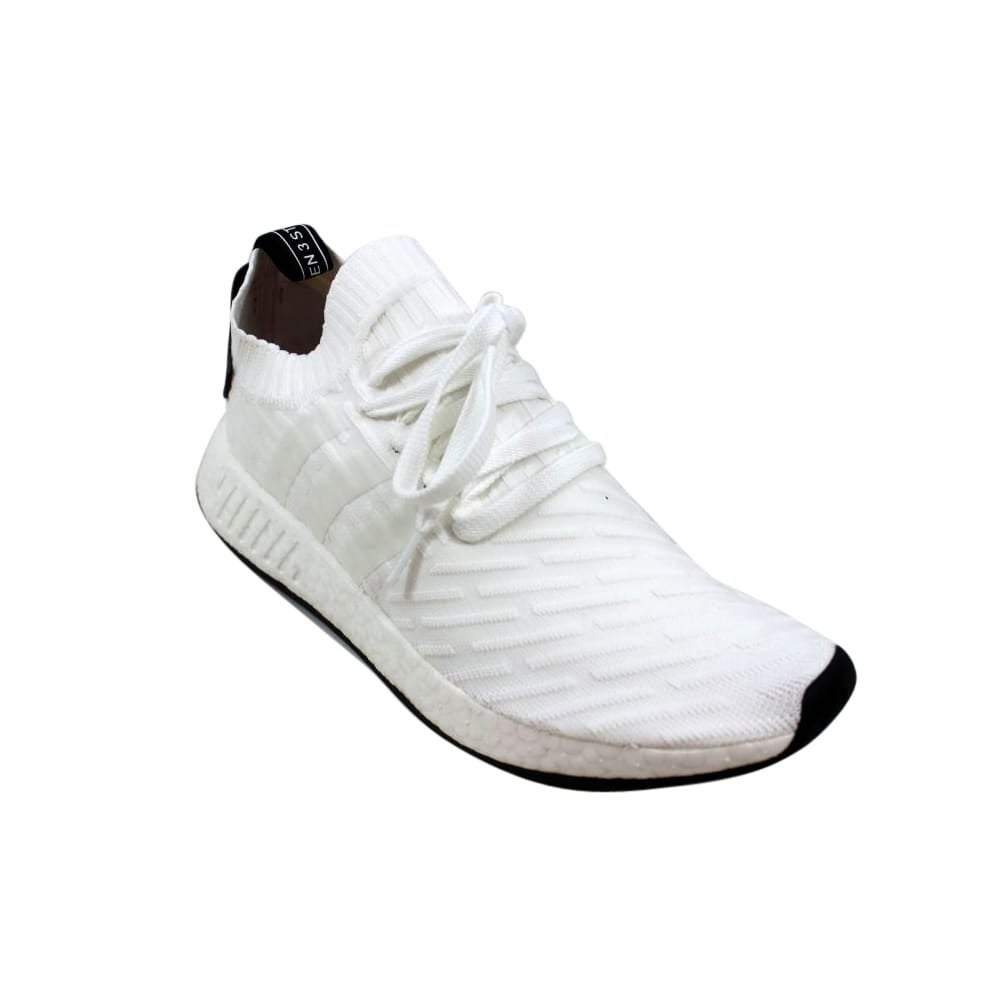 reputable site 31730 67e2a Shop Adidas Men s NMD R2 Primeknit White Black BY3015 - Free Shipping Today  - Overstock - 27993484 - 4