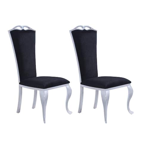 Somette Janice Modern Tall-Back Side Chair, Set of 2