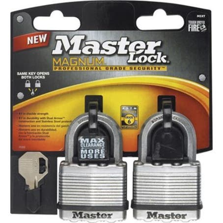 Master Lock M5XTCCSEN Magnum 2-Inch Laminated Padlock, 2-Pack