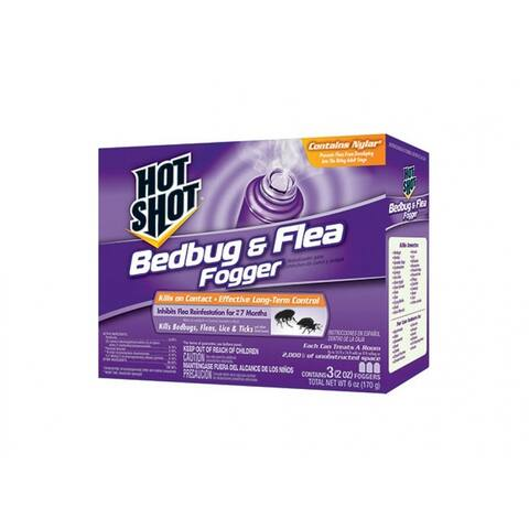 Hot Shot HG-95911 Bedbug & Flea Fogger, 2 Oz, 3-Pack