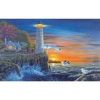 "Paint By Number Kit 15.375""X11.25""-Waterside Lighthouse"