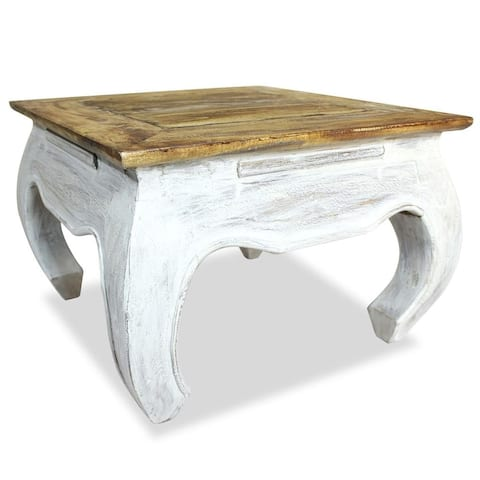 "vidaXL Side Table Solid Reclaimed Wood 19.7""x19.7""x13.8"""