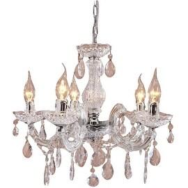 Mini Modern 5 Light Glass Home Pendant Lamp Light Chandelier