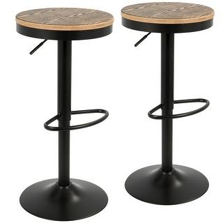 Link to Carbon Loft Goddard Industrial Adjustable Bar Stool (Set of 2) Similar Items in Dining Room & Bar Furniture