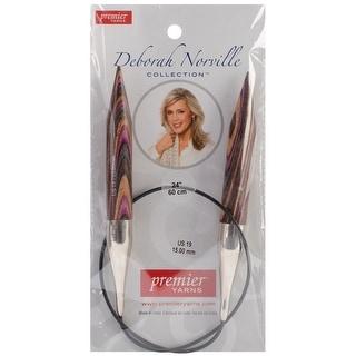 "Deborah Norville Fixed Circular Knitting Needles 24""-Size 19 - size 19/15mm"
