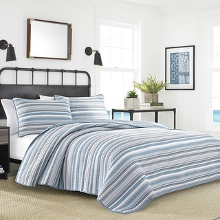 Link to Nautica Jettison Cotton Grey Quilt Set Similar Items in Quilts & Coverlets