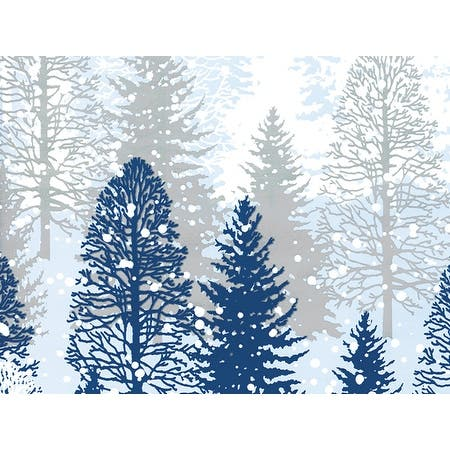 """Pack of 1, Snowy Trees 26"""" x 417' Half Ream Roll Gift Wrap for Party, Kids' Birthday, Wedding & Occasion - Tree"""