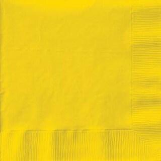 "School Bus Yellow - Beverage Napkins 5""X5"" 50/Pkg"