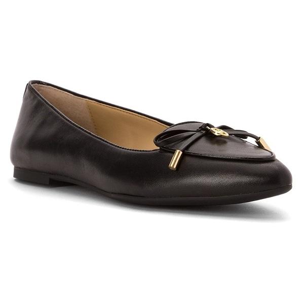 MICHAEL Michael Kors Womens Nancy Leather Pointed Toe Slide Flats