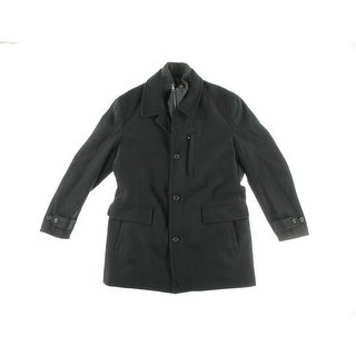 Michael Kors Mens Wool Long Sleeves Coat - L