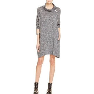 Free People Womens Sweaterdress Heathered Seamed