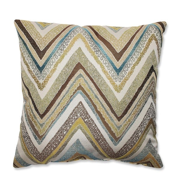 "16.5"" Strisce Chevron Multicolor Striped Decorative Square Throw Pillow"