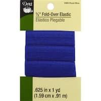 """Royal Blue - Dritz Fold-Over Elastic 5/8""""X1yd"""