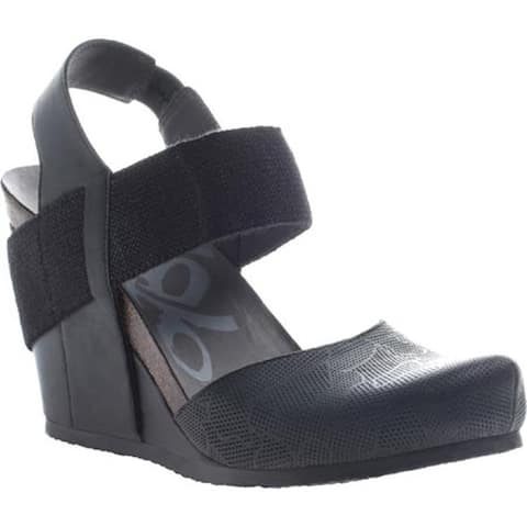 OTBT Women's Rexburg Wedge New Black Leather
