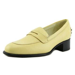 Tod's Mocassino Cuoio T. 35 Donna Apron Toe Leather Loafer
