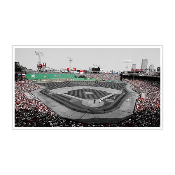 Boston - Fenway Park - Touch of Color Baseball Ballparks - 40x22 Canvas ToC