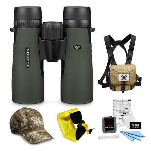 Vortex 8x42 Diamondback Roof Prism Binoculars with Harness Case Bundle
