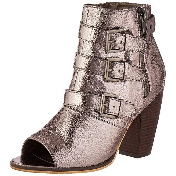 Michael Antonio Womens Maklar-met Peep Toe Ankle Fashion Boots