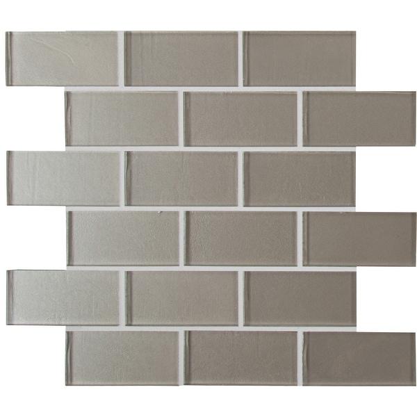 "MSI SMOT-GLSST-8MM 2"" x 4"" Brick Joint Mosaic Tile - Varied Glass Visual - Sold by Carton (9.7 SF/Carton) - Starlight"