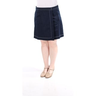 Womens Navy Casual Skirt Size 16