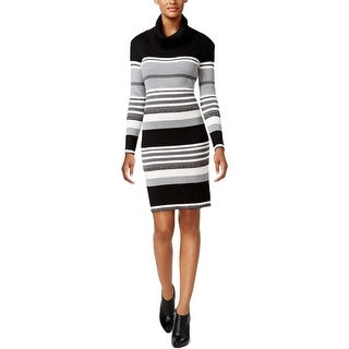 Connected Apparel Womens Sweaterdress Metallic Striped