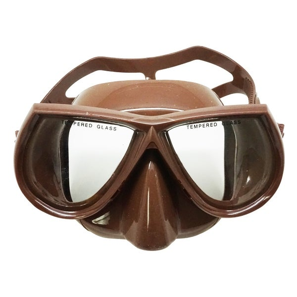 2675ec1dda1 Shop Palantic Spearfishing Brown Dive Mask Nearsighted Prescription RX  Optical Lenses - Free Shipping Today - Overstock.com - 15925117