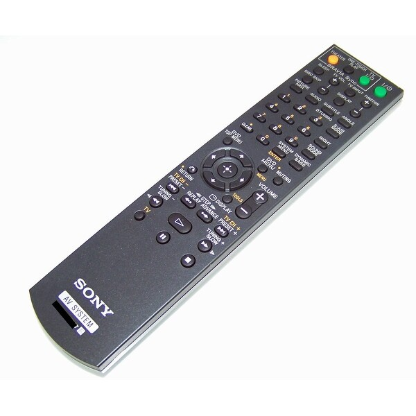 OEM Sony Remote Control Originally Shipped With: HCDHDX275, HCD-HDX275, DAVHDX277, DAV-HDX277, DAVHDZ284, DAV-HDZ284