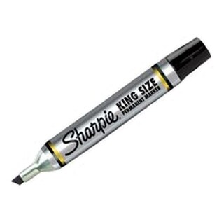 Sharpie 15101 King Size Chisel Permanent Marker, Black