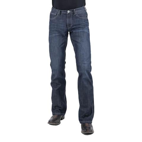Stetson Western Denim Jeans Mens Bootcut Dark