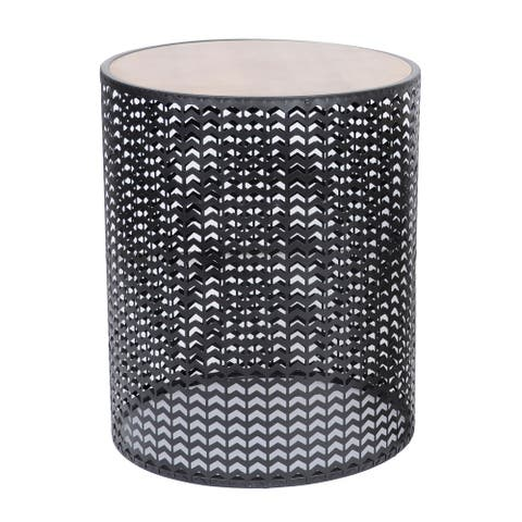 "Natalia 22"" Metal Geometric Outdoor Accent Table"