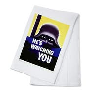 He's Watching You - USA c. 1942 - Vintage Ad (100% Cotton Towel Absorbent)