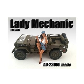 Lady Mechanic Jessie Figure For 1:18 Scale Models by American Diorama