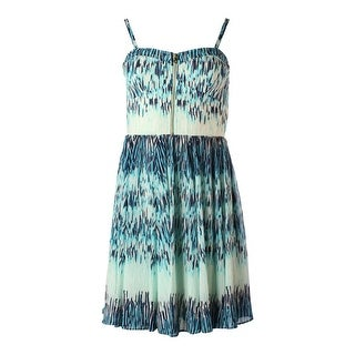 Guess Womens Tanya Printed Strapless Casual Dress