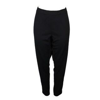 Whitespace Plus Size Black Elastic-Waist Soft Pants 22