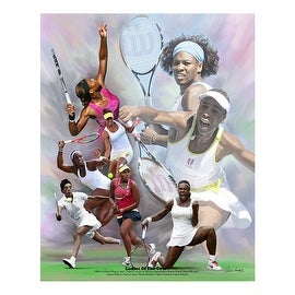 ''Ladies of the Court'' by Wishum Gregory African American Art Print (11 x 8.5 in.)